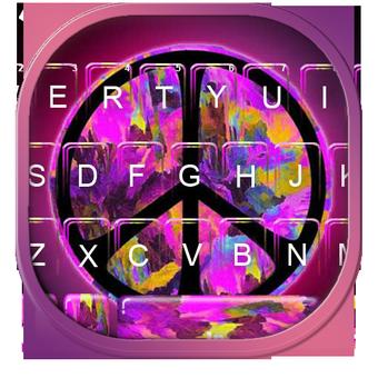 紫色和平主題鍵盤